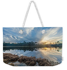 Winter Reflection-1 Weekender Tote Bag