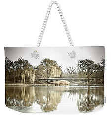 Weekender Tote Bag featuring the photograph Winter Reflection Landscape by Julie Palencia