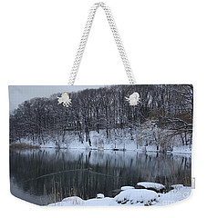 Weekender Tote Bag featuring the photograph Winter Reflections by Dora Sofia Caputo Photographic Art and Design