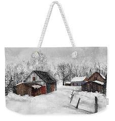 Winter Scene Weekender Tote Bag