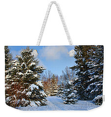 Winter Scenery Weekender Tote Bag by Teresa Zieba