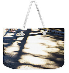 Weekender Tote Bag featuring the photograph Winter Shadows by Yulia Kazansky