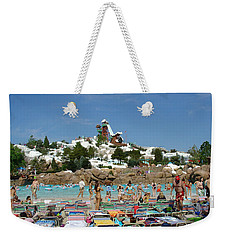 Weekender Tote Bag featuring the photograph Winter Shore Line by David Nicholls