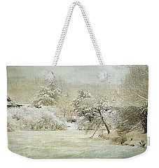 Weekender Tote Bag featuring the photograph Winter Silence by Julie Palencia