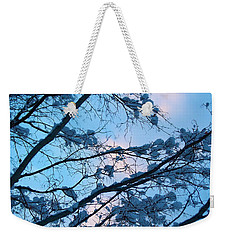 Winter Sky And Snowy Japanese Maple Weekender Tote Bag
