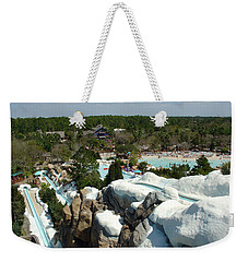 Weekender Tote Bag featuring the photograph Winter Slides by David Nicholls