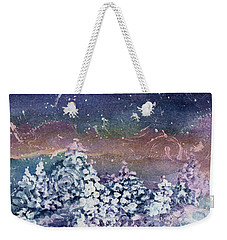 Weekender Tote Bag featuring the painting Winter Solstice  by Kathy Bassett