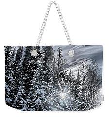Winter Star Weekender Tote Bag