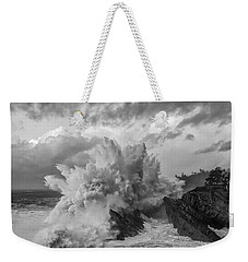 Winter Storms Weekender Tote Bag by Patricia Davidson