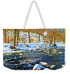 Winter Stream Southeastern Pennsylvania Poster Image Weekender Tote Bag by A Gurmankin