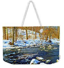 Winter Stream Southeastern Pennsylvania Poster Image Weekender Tote Bag