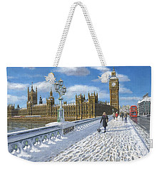 Winter Sun - Houses Of Parliament London Weekender Tote Bag by Richard Harpum