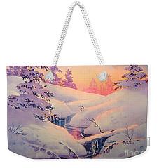 Winter Sun Weekender Tote Bag by Teresa Ascone