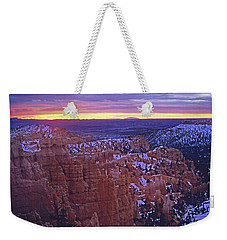 Weekender Tote Bag featuring the photograph Winter Sunrise At Bryce Canyon by Susan Rovira