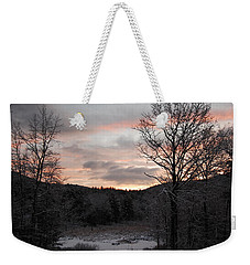Winter Sunrise Weekender Tote Bag by Mim White