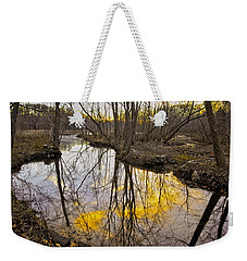 Weekender Tote Bag featuring the photograph Winter Sunset At Williston Mill by Brian Wallace