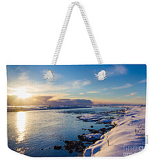 Winter Sunset In Iceland Weekender Tote Bag