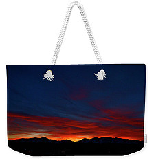 Winter Sunset Weekender Tote Bag by Jeremy Rhoades