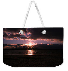 Weekender Tote Bag featuring the photograph Winter Sunset by Karen Silvestri