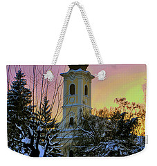 Winter Sunset Weekender Tote Bag by Nina Ficur Feenan