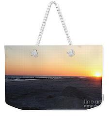 Winter Sunset On Long Beach Weekender Tote Bag