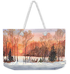 A Hedgerow Sunset Weekender Tote Bag