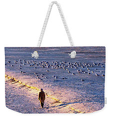 Weekender Tote Bag featuring the photograph Winter Time At The Beach by Cynthia Guinn