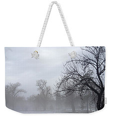 Weekender Tote Bag featuring the photograph Winter Trees With Mist by Jeannie Rhode