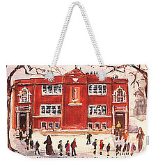 Winter Vacation Begins For Saint Pierre's School Weekender Tote Bag by Rita Brown