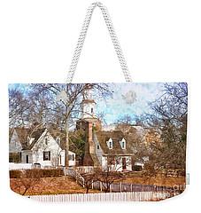 Winter Village Weekender Tote Bag