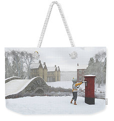 Winter Village With Postbox Weekender Tote Bag