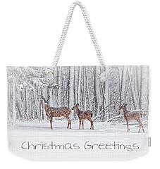 Winter Visits Card Weekender Tote Bag