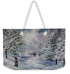 Winter Walk On Cannock Chase Weekender Tote Bag