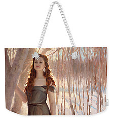 Winter Warmth - Figure In The Landscape Weekender Tote Bag