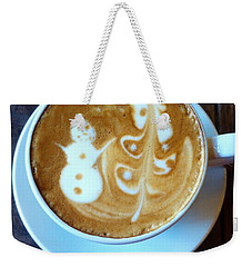 Winter Warmth Latte Weekender Tote Bag
