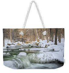 Weekender Tote Bag featuring the photograph Winter Water by Bill Wakeley