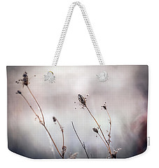 Weekender Tote Bag featuring the photograph Winter Wild Flowers by Sennie Pierson