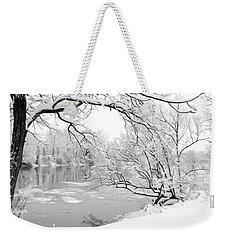 Winter Wonderland In Black And White Weekender Tote Bag