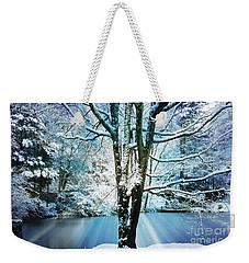 Weekender Tote Bag featuring the photograph Winter Wonderland by Judy Palkimas