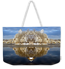 Weekender Tote Bag featuring the photograph Winter Wonderland Love by Cindy Greenstein