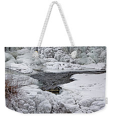 Weekender Tote Bag featuring the photograph Vermillion Falls Winter Wonderland by Patti Deters