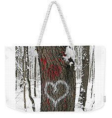 Winter Woods Romance Weekender Tote Bag