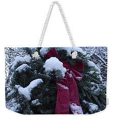 Winter Wreath Weekender Tote Bag