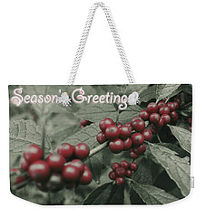 Winterberry Greetings Weekender Tote Bag by Photographic Arts And Design Studio