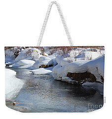 Winter's Blanket Weekender Tote Bag by Fiona Kennard