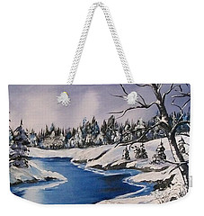 Winter's Blanket Weekender Tote Bag