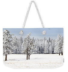 Winter's Coat Weekender Tote Bag by Dee Cresswell