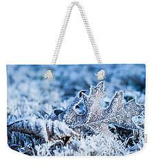Winter's Icy Grip Weekender Tote Bag