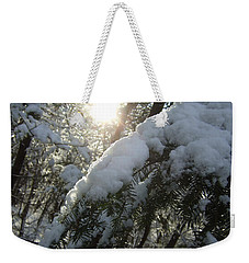 Winter's Paw Weekender Tote Bag