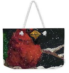 Winter's Red Weekender Tote Bag by Jim Phillips